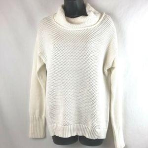 Athleta cream cowl neck sweater XS